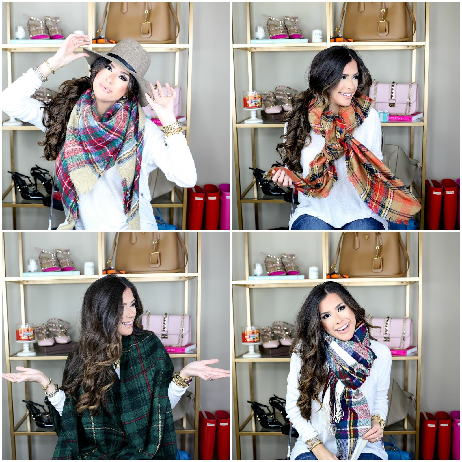 10 Ways To Wear Blanket Scarves The Sweetest Thing