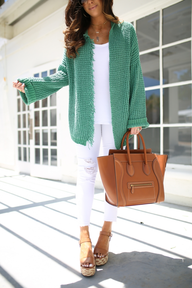 emily gemma, the sweetest thing, tan celine mini luggage, free people cardigan, best white v neck tee nordstrom, pinterest summer outfit ideas 2017, pinterest fall outfit ideas 2017, pinterest cardigan outfit idea, white jeans outfit ideas pinterest, layered gold necklaces, jbrand white jeans, cute all white outfit ideas, tulsafasphion blogger