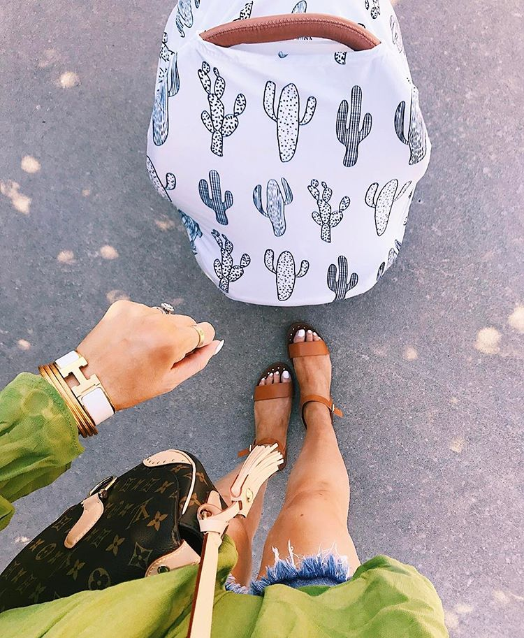 summer fashion pinterest 2017, summer fashion tumblr 2017, emily gemma, the sweetest thing blog, fashion bloggers to follow, tumblr cute summer outfits 2017, pinterest cute summer outfits 2017, cutoff shorts outfits 2017 pinterest, hermes bracelet stack, white hermes clic clac bracelet, cactus carseat cover, Louis vuitton Saint cloud