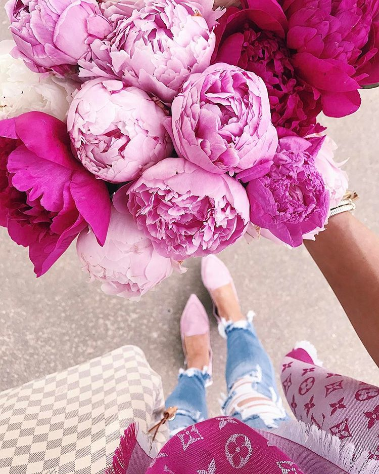 summer fashion pinterest 2017, summer fashion tumblr 2017, emily gemma, the sweetest thing blog, fashion bloggers to follow, M. Gemi flats, louis vuitton pink scarf, pinterest flower pictures, pinterest peonies, pink peonies