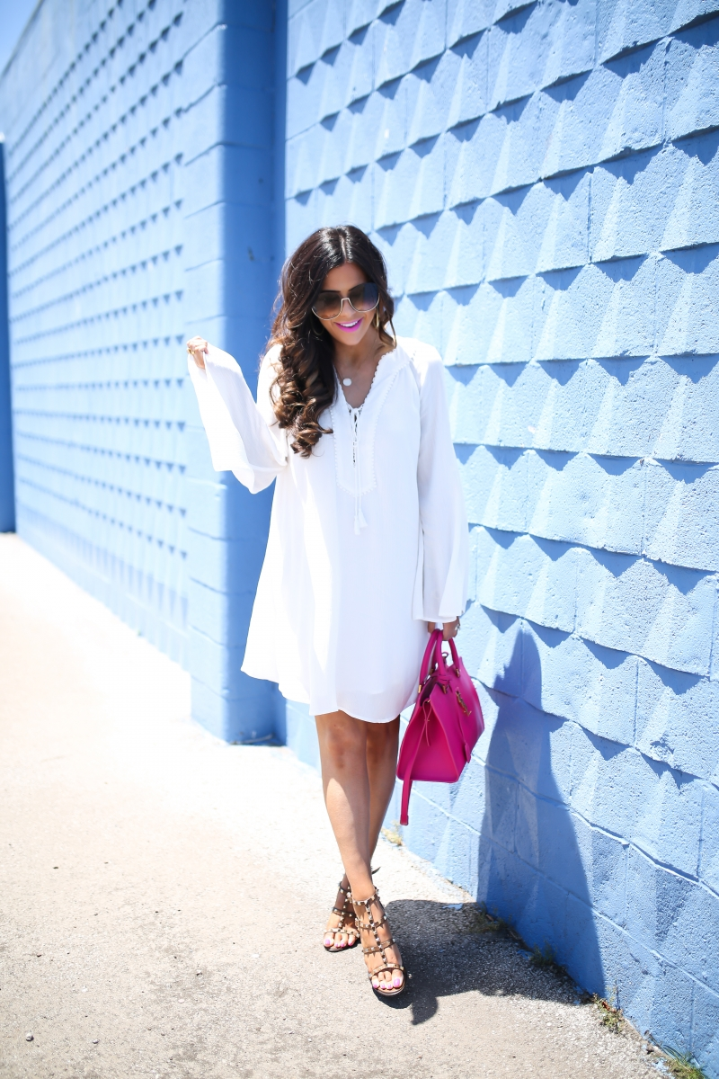summer fashion pinterest, pink YSL handbag, chloe sunglasses, emily gemma, the sweetest thing, valentino sandals