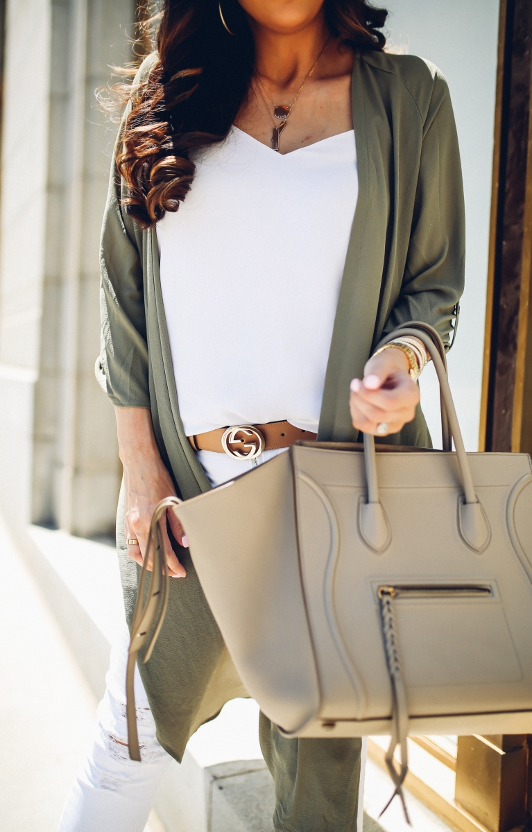 gucci belt outfit idea, beige celine phantom, emily gemma, the sweetest thing blog