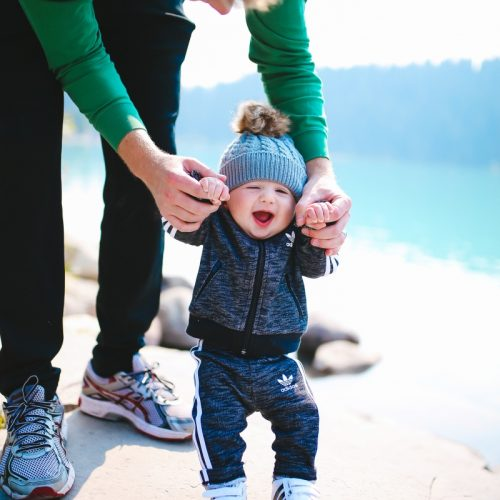 Baby boy fashion outfits, baby boy adidas tracksuit, baby boy adidas tennis shoes, baby boy mom matching adidas, lake louise canada, emily gemma blog, the sweetest thing blog, fall fashion pinterest tumblr, tumblr cute baby photos, pinterest cute baby photos, baby in beanies with puff balls, baby boy outfits winter time, travel bloggers with babies, the sweetest thing blog, adidas outfits fashion blogs, zella leggings