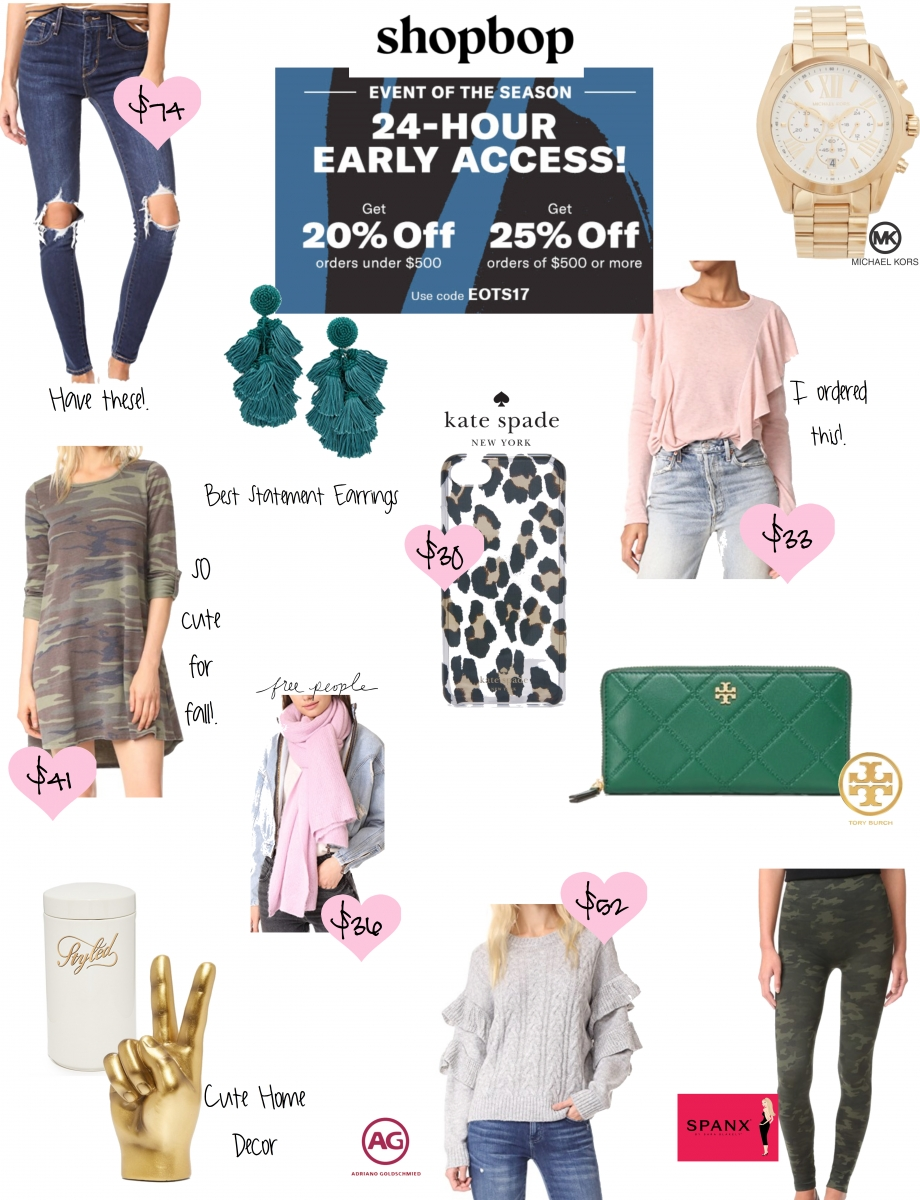 huge giveaway from @emilyanngemma blog, The Sweetest Thing - SHOPBOP SALE