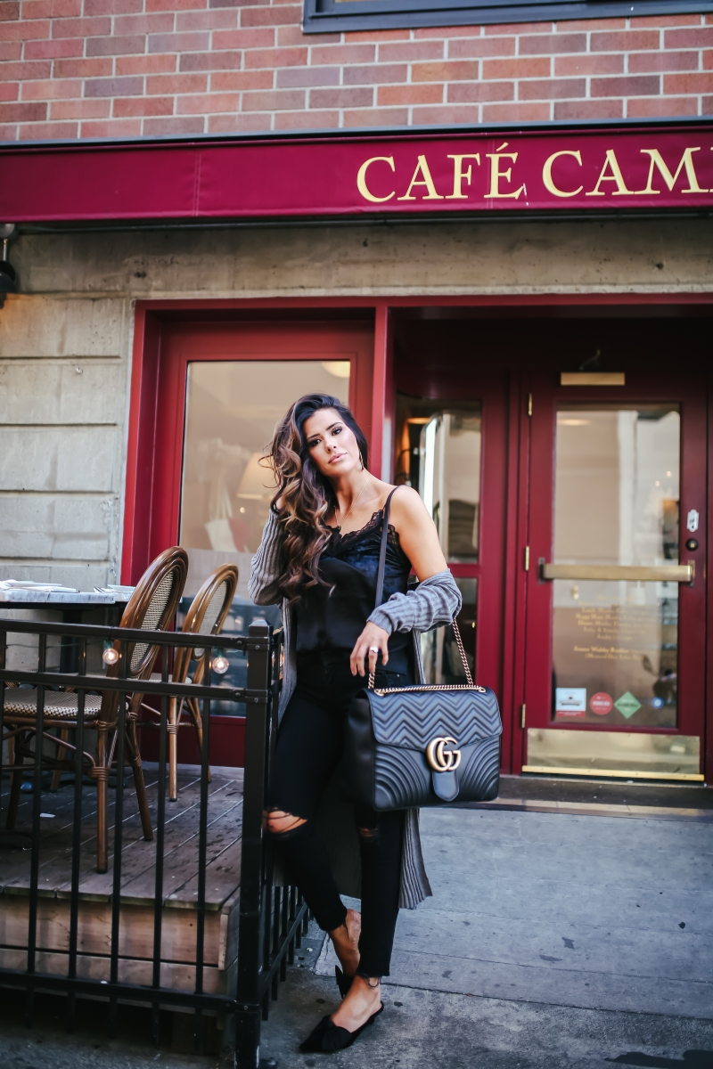 fall fashion 2017, gucci marmont Maxi size black, how to layer lace cami fall 2017, emily gemma blog, travel blogger