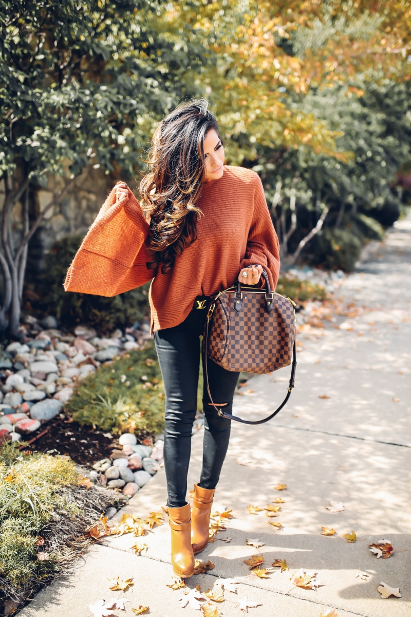 fall fashion 2017, pinterest fall outfits 2017, off the shoulder sweaters with booties for fall, black ripped denim outfit ideas fall, cute fall outfit ideas, DL1961 Instasculpt jeans, Speedy 30 Damier Ebene, Nordstrom BP sweater, The sweetest Thing blog fall outfits, emily ann gemma, popular fashion blog fall outfits, travel bloggers in denver, emily gemma denver