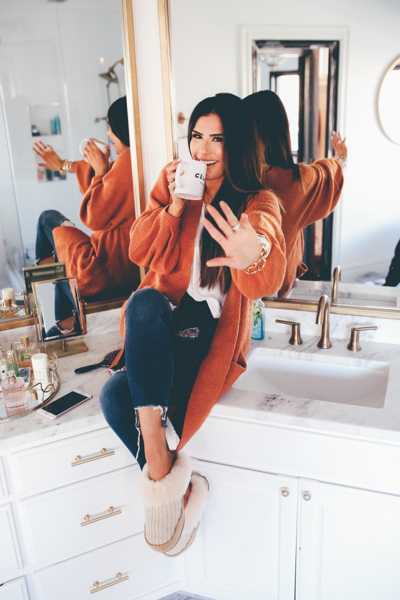 brunette balayage, long layered hair cuts with balayage, #balayage, emily gemma hair, The sweetest thing blog hair care, Crown Beauty Bar Fayetteville, AR, hair loss after having a baby, products for hair growth after having a baby, davines hair care products