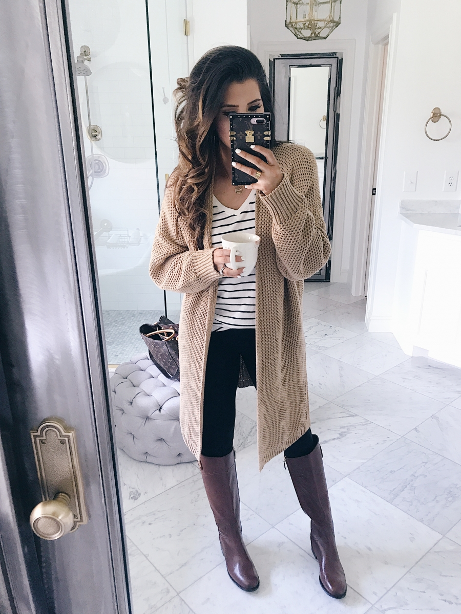 16 Thanksgiving Outfit Ideas featured by top US fashion blogger, Emily Gemma of The Sweetest Thing:cute fall thanksgiving outfitt 2017, cute pinterest outfit cardigan and leggings and tory burch boots, emily ann gemma, the sweetest thing blog, all black outfit pinterest, easy cute casual womens outfit fall pinterest tumblr thanksgiving, fashion blogger fall outfits pinterest,
