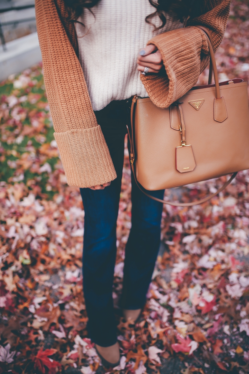 cute fall outfits 2017, fall outfit ideas pinterest, pinterest flare jeans outfit idea, outfit with tan beret, beret fall trends 2017, emily ann gemma, the sweetest thing blog, harvard campus, tan prada bag, how to wear flare jeans, cute flare jeans, hudson flare jeans, h&m turtleneck sweater