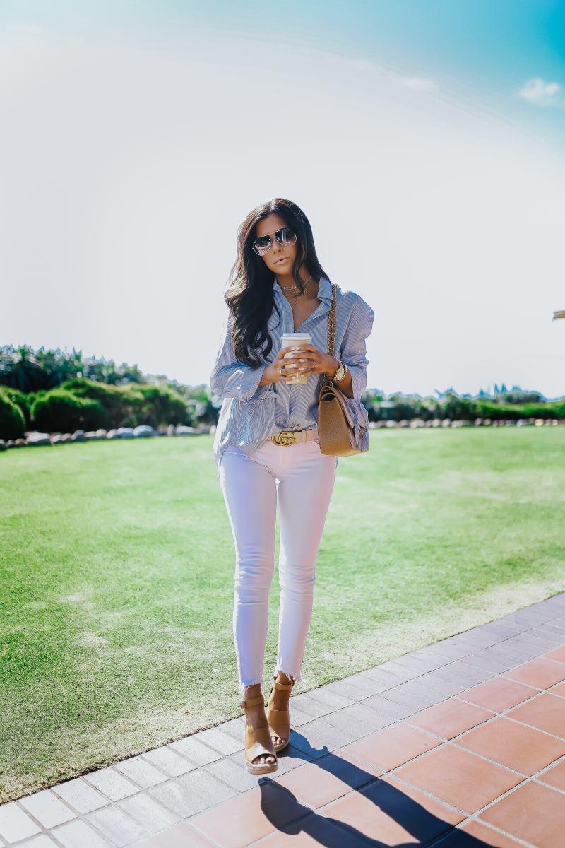 Treasure and Bond Wedges styled by top US fashion blogger, Emily Gemma of The Sweetest Thing
