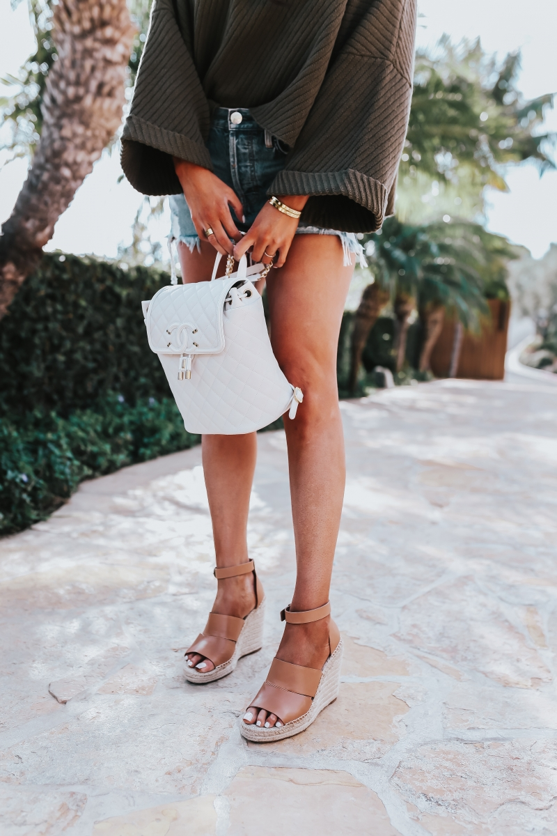 Chanel backpack spring fashion outfit 2018 pinterest emily ann gemma the sweetest thing blog