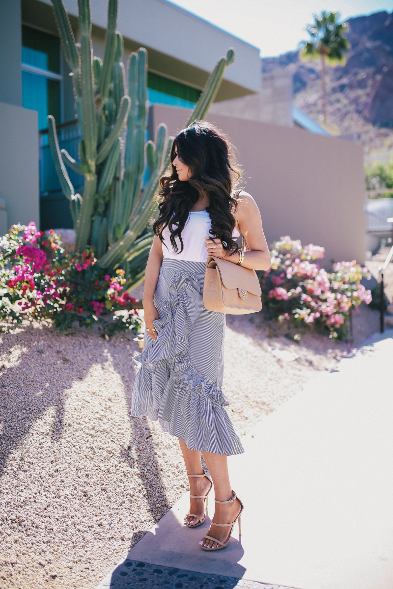spring summer ruffled skirt fashion outfit 2018 pinterest emily ann gemma the sweetest thing blog