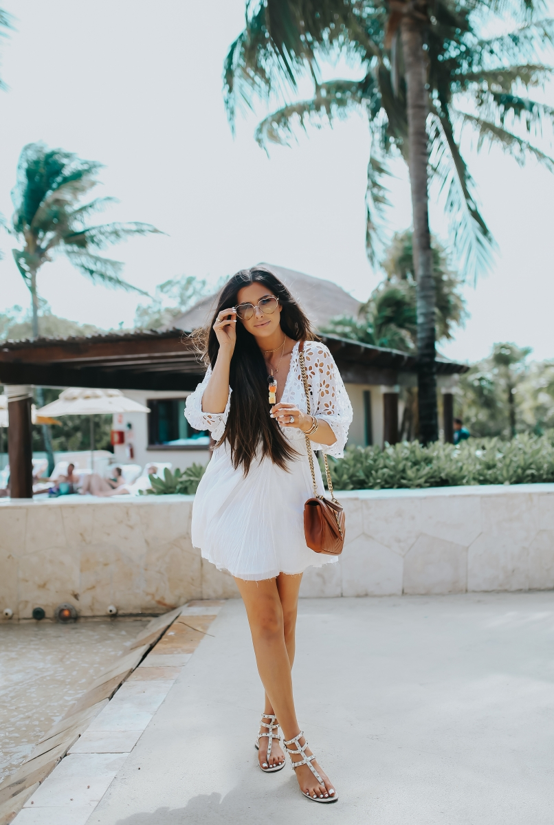 The Cutest Little White Dress For Date Night Or Poolside