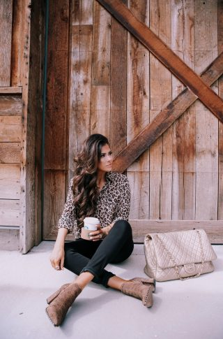 fall fashion pinterest 2018, popular fashion instagram bloggers 2018, chanel black belt, giani bini leopard booties, Chanel XXL airline tote, emily ann gemma