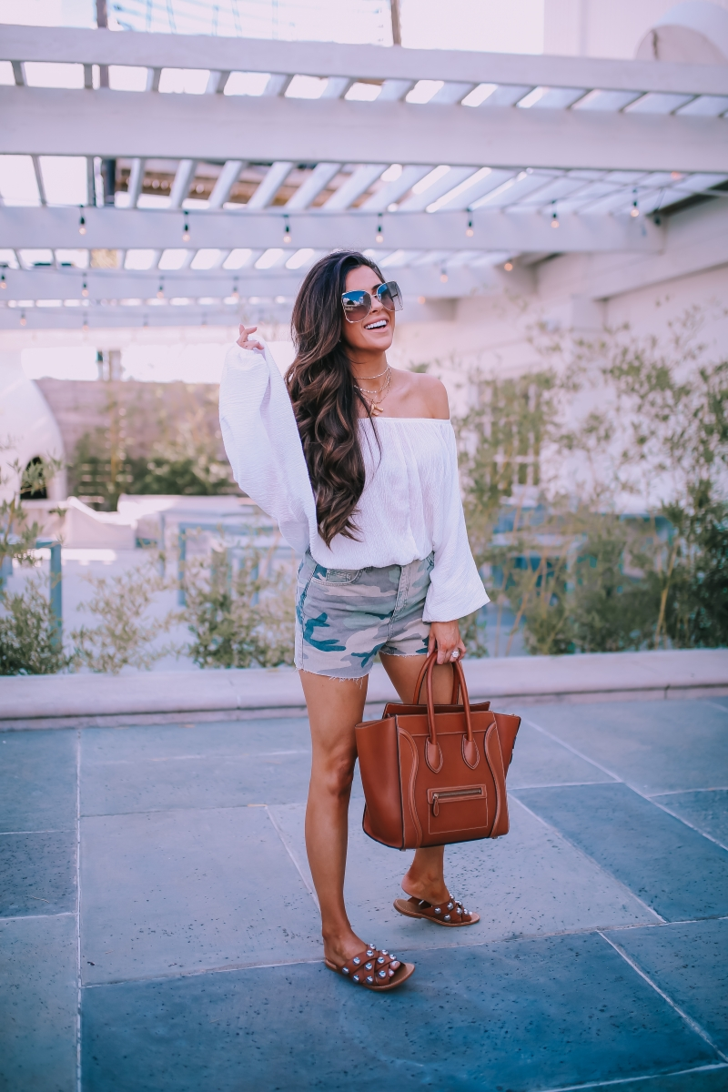 tan celine mini luggage, celine alphabet letter dupe necklace lookalike, emily ann gemma blog, chloe oversized butterfly sunglasses, topshop camo shorts, fall fashion pinterest 2018-5