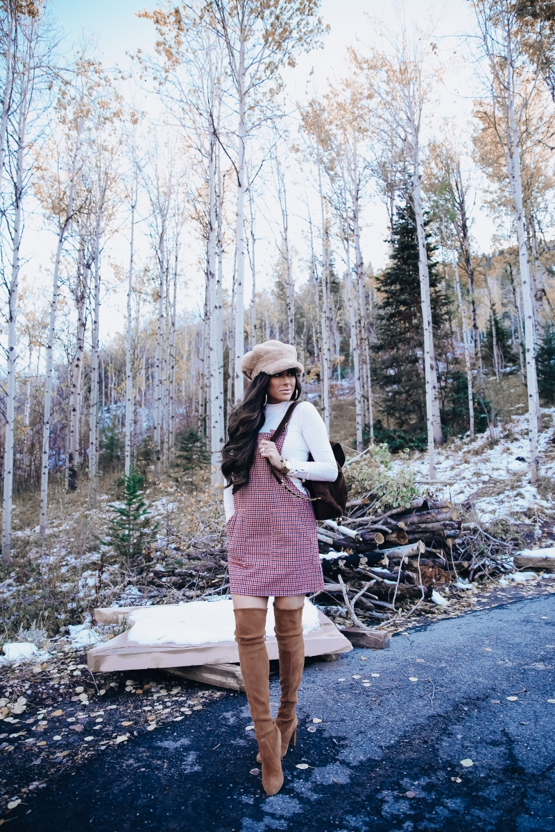 cute forever 21 outfit idea, emily gemma, fall fashion outfit idea pinterest 2018, stuart weitzman OTK boots camo, park city fashion blog