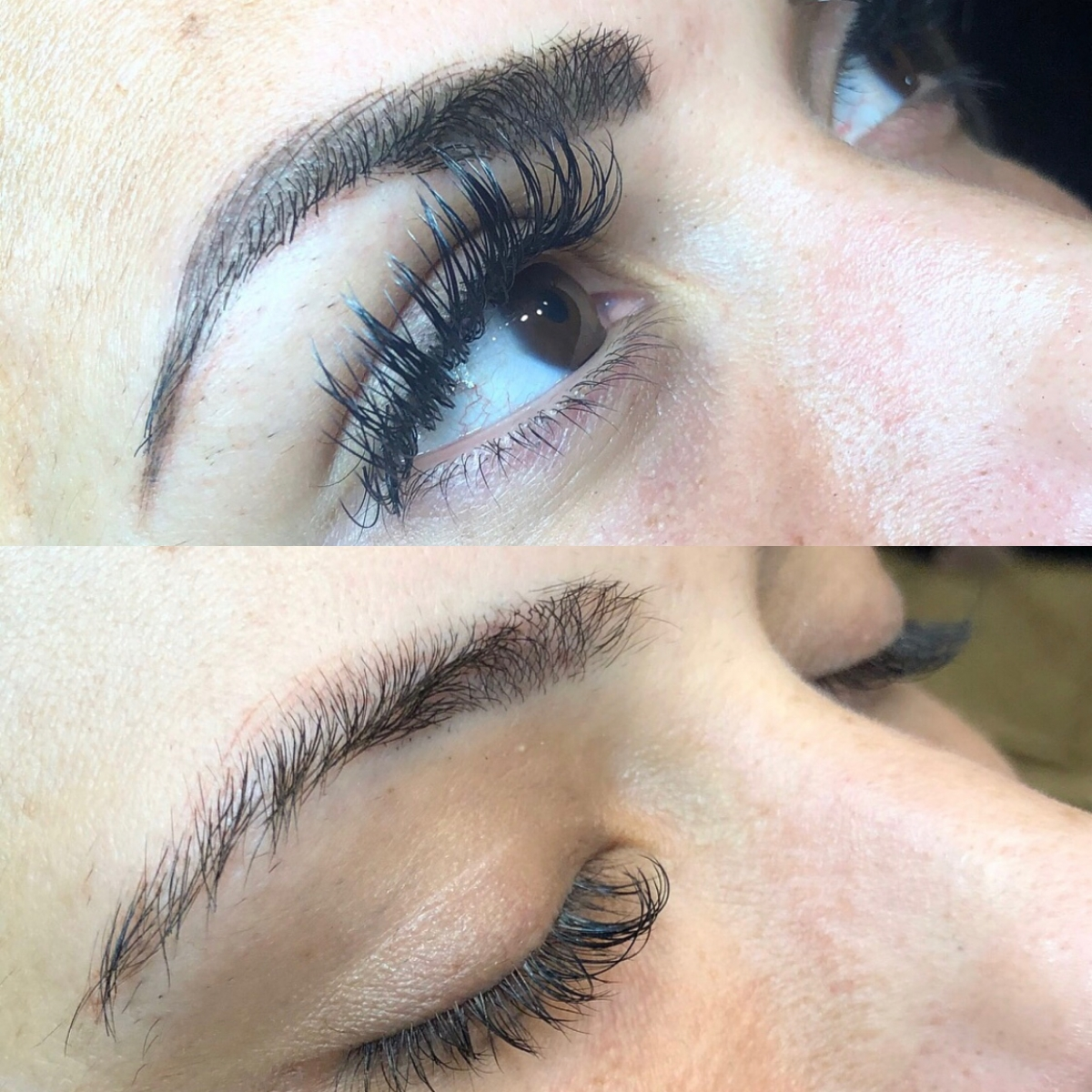 microbladed brows before and after, tulsa microbladed brows, emily gemma brows