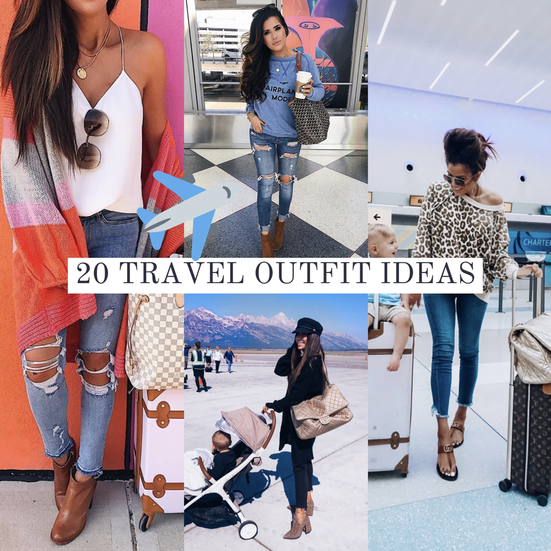 airport outfit idea cute fashion travel pinterest 2018 fall, emily ann gemma blog