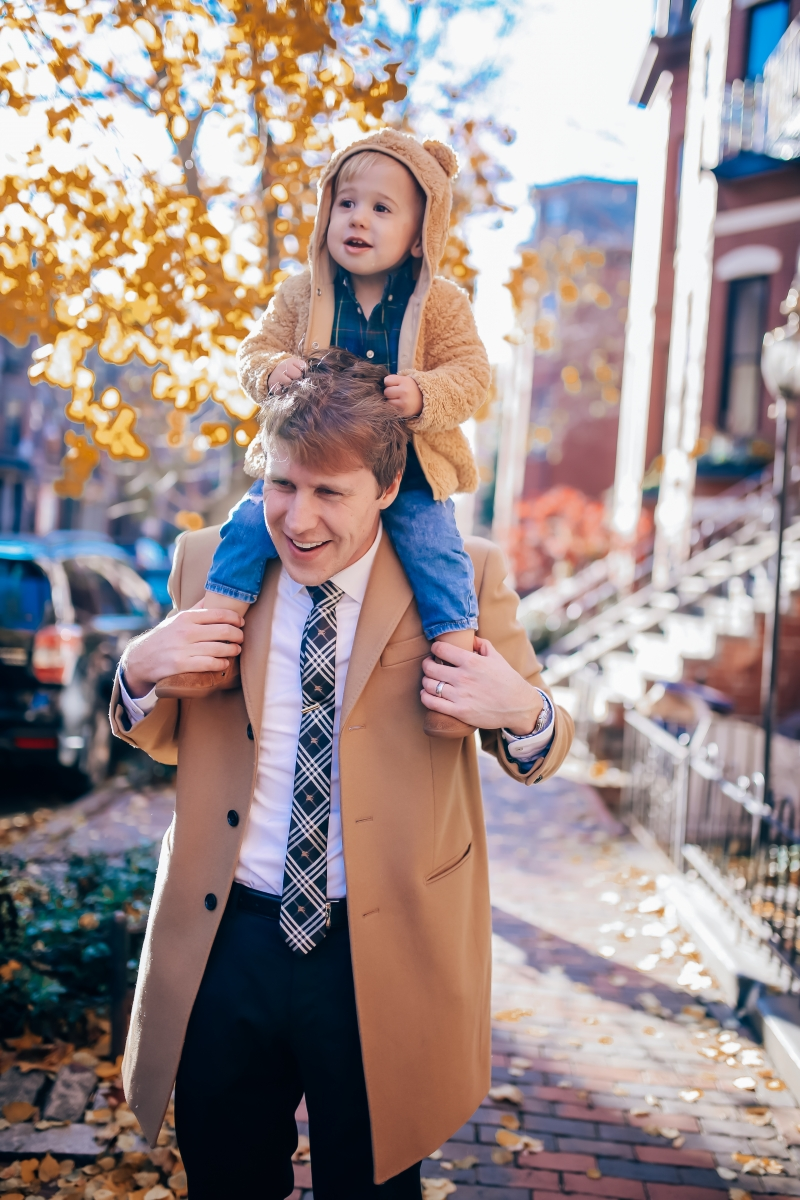 dad and baby boy fashion, pinterest fall family outfit idea 2018, womens fall fashion pinterest, christmas card fall family outfit 2018, family photo idea 2018 pinterest, burberry tie, emily ann gemma-10