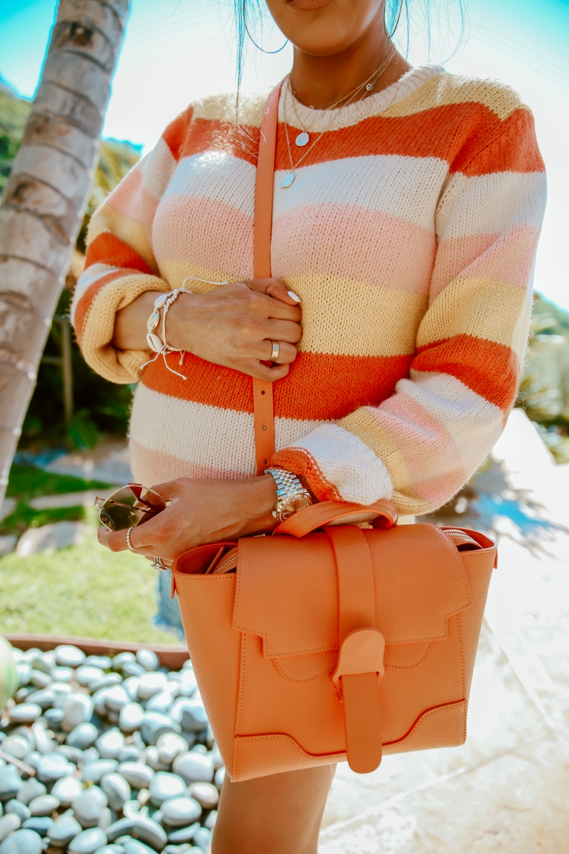 spring fashion 2019 pinterest, senreve bag orange, seashell puka shell jewelry trend 2019, dl1961 maternity shorts, rolex datejust36, emily gemma, cute pregnancy outfits spring, laguna beach fashion blogger, jennifer zener love necklace