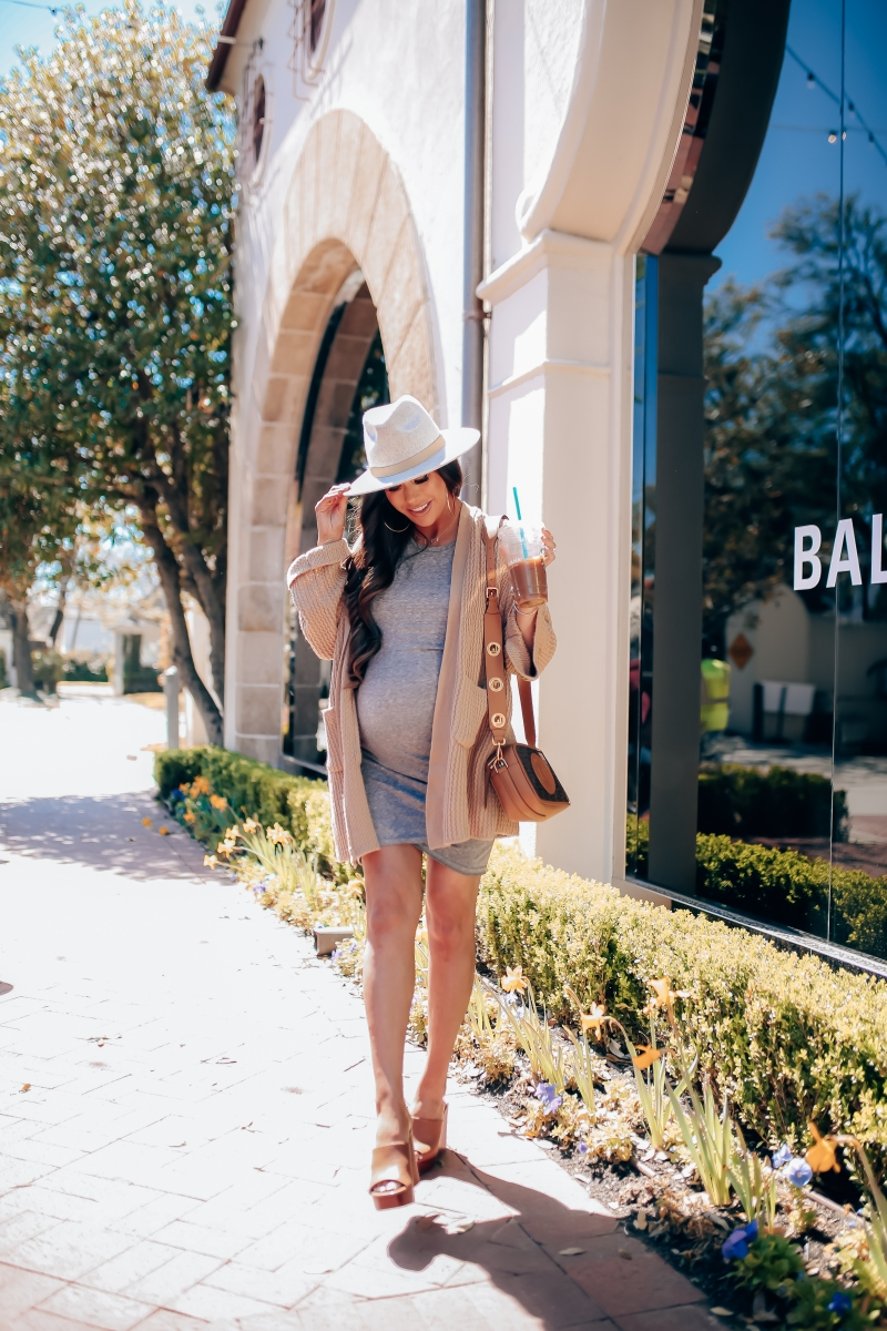 spring fashion pinterest 2019, lack of color mack hat, leith tulip dress, jessica simpson wedges 2019, fendi camera bag, emily ann gemma, pregnancy outfits fashion pinterest-11