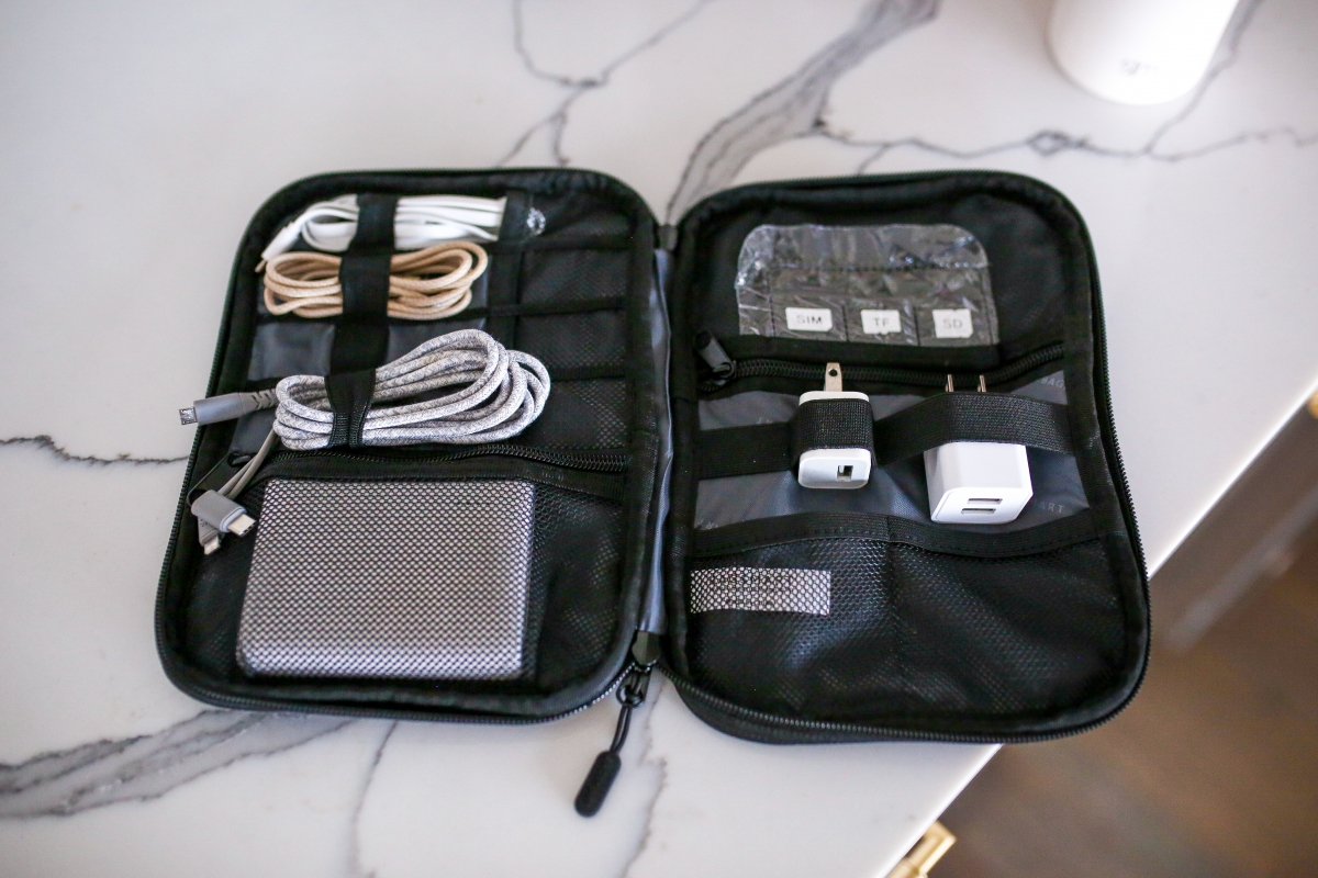 amazon prime finds, best amazon prime must haves, travel gear amazon, Emily ann gemma, the sweetest thing blog, cord organizer for travel,