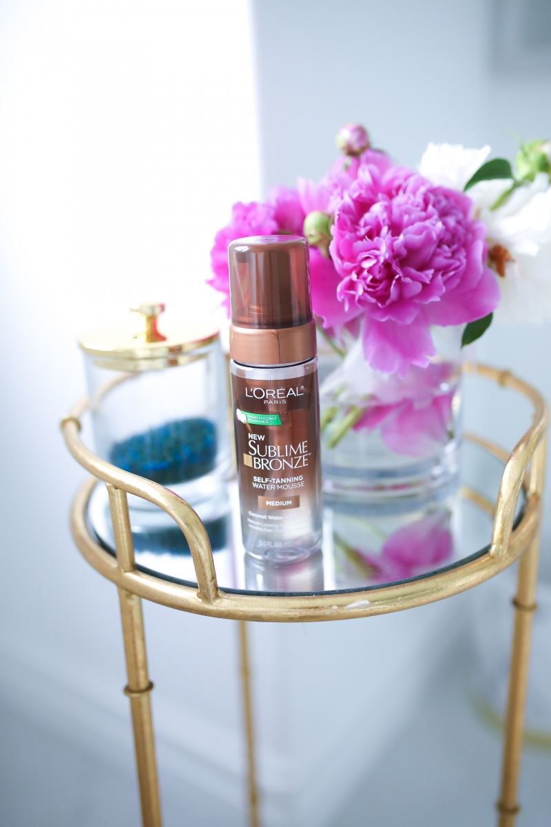 Emily Ann Gemma of The Sweetest Thing Blog L'OREAL SUBLIME BRONZE SELF TANNING WATER MOUSSE review