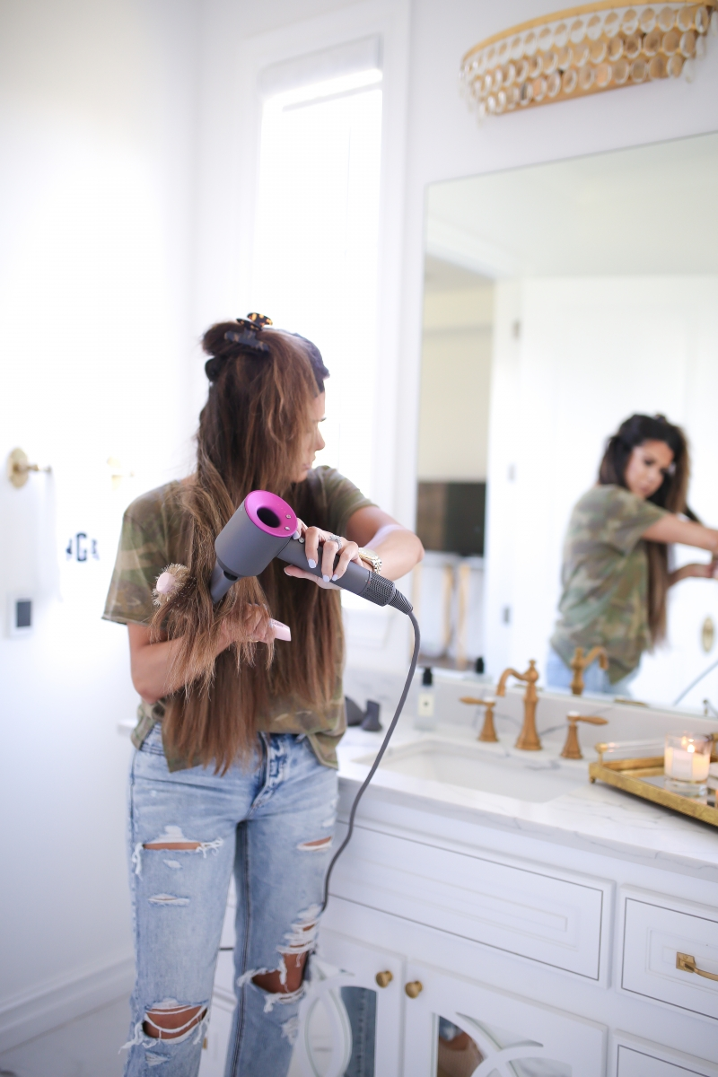 Emily Ann Gemma of The Sweetest Thing Blog review of the Dyson Hair Dryer.