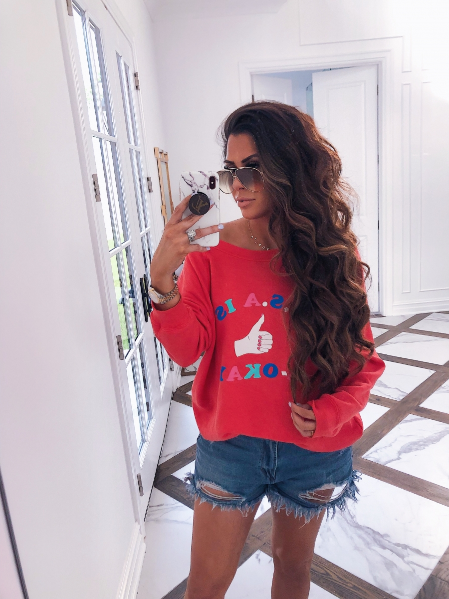 emily ann gemma curling wand, lola and james necklace, wildfox fourth of july sweatshirt,1