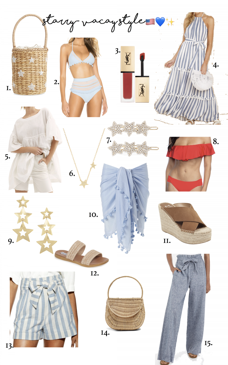 Emily Ann Gemma of The Sweetest Thing Blog's favorite summer vacation trends and style