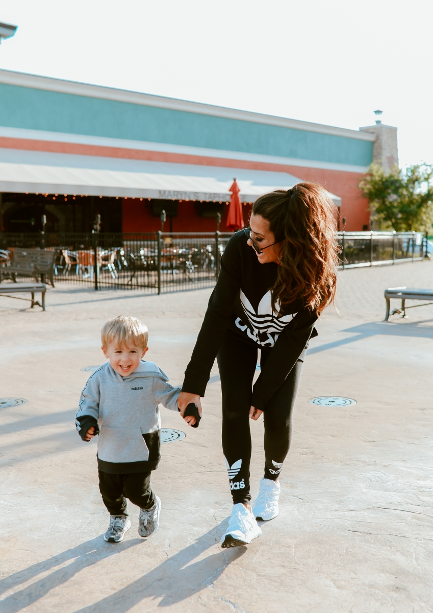 Adidas Athleisure For The Family, Emily Ann Gemma of The Sweetest Thing Blog, eBay discounted Adidas clothing