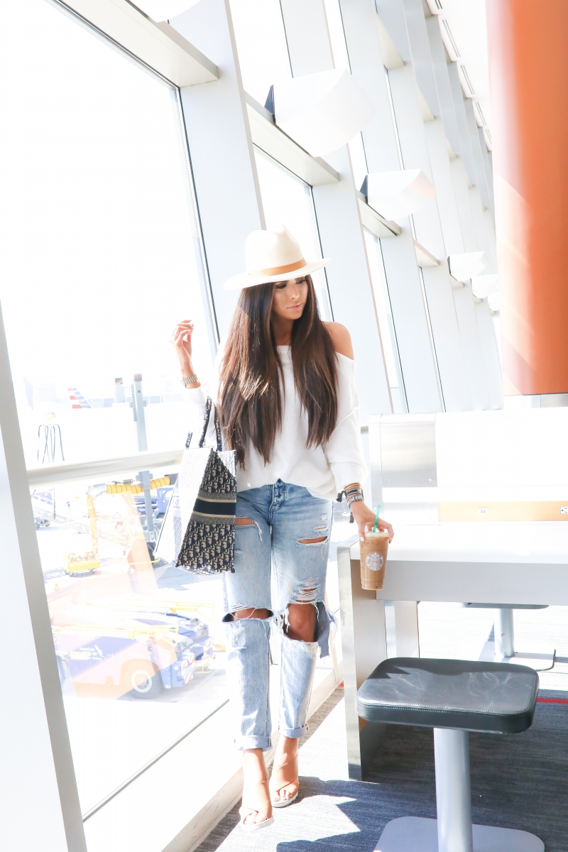 Cute airport travel outfit fall 2019, Dior Book Tote pinterest outfit, Dior bracelets, fall fashion casual travel outfit pinterest 2019, emily gemma,_-2