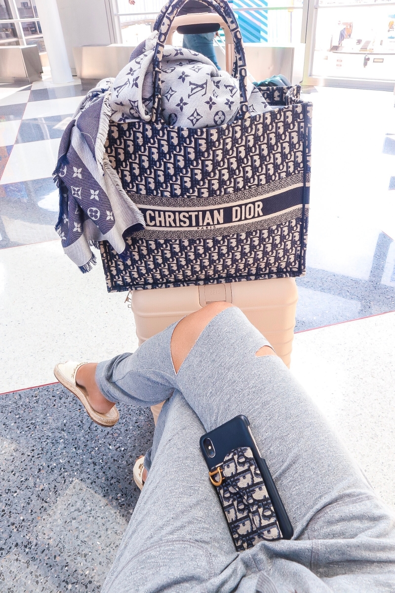 emily gemma, christian dior book tote review, cute airport outfit pinterest,