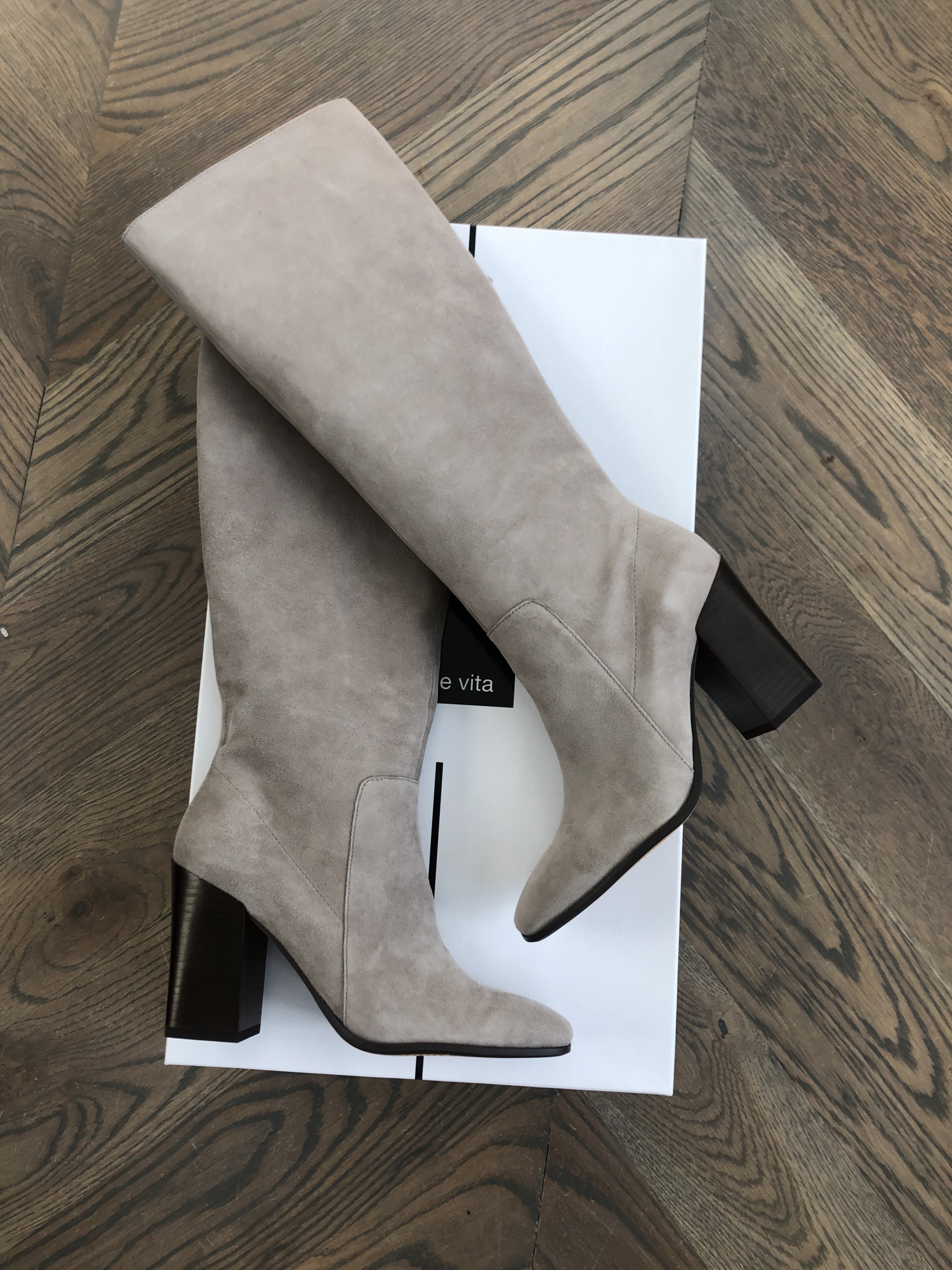 Shopbop sale fall 2019, taupe dolce vita boots, best knee boots taupe suade