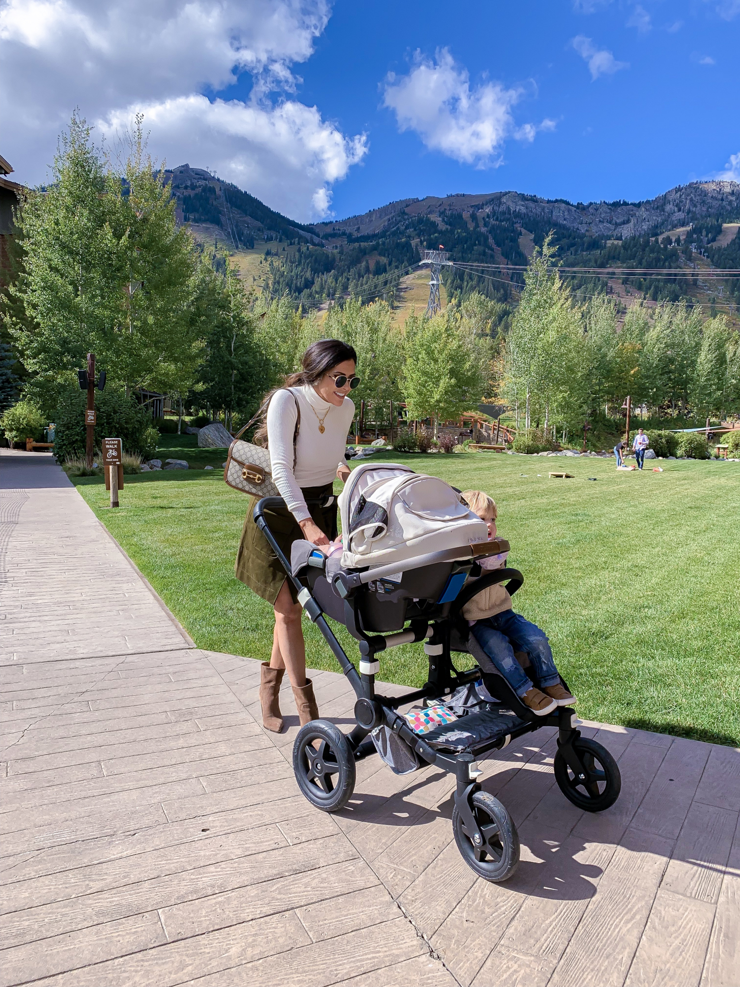 The Best Things to Do in Jackson Hole in the Fall featured by top US travel blog, The Sweetest Thing | bugaboo double stroller review, emily gemma, jackson hole review october