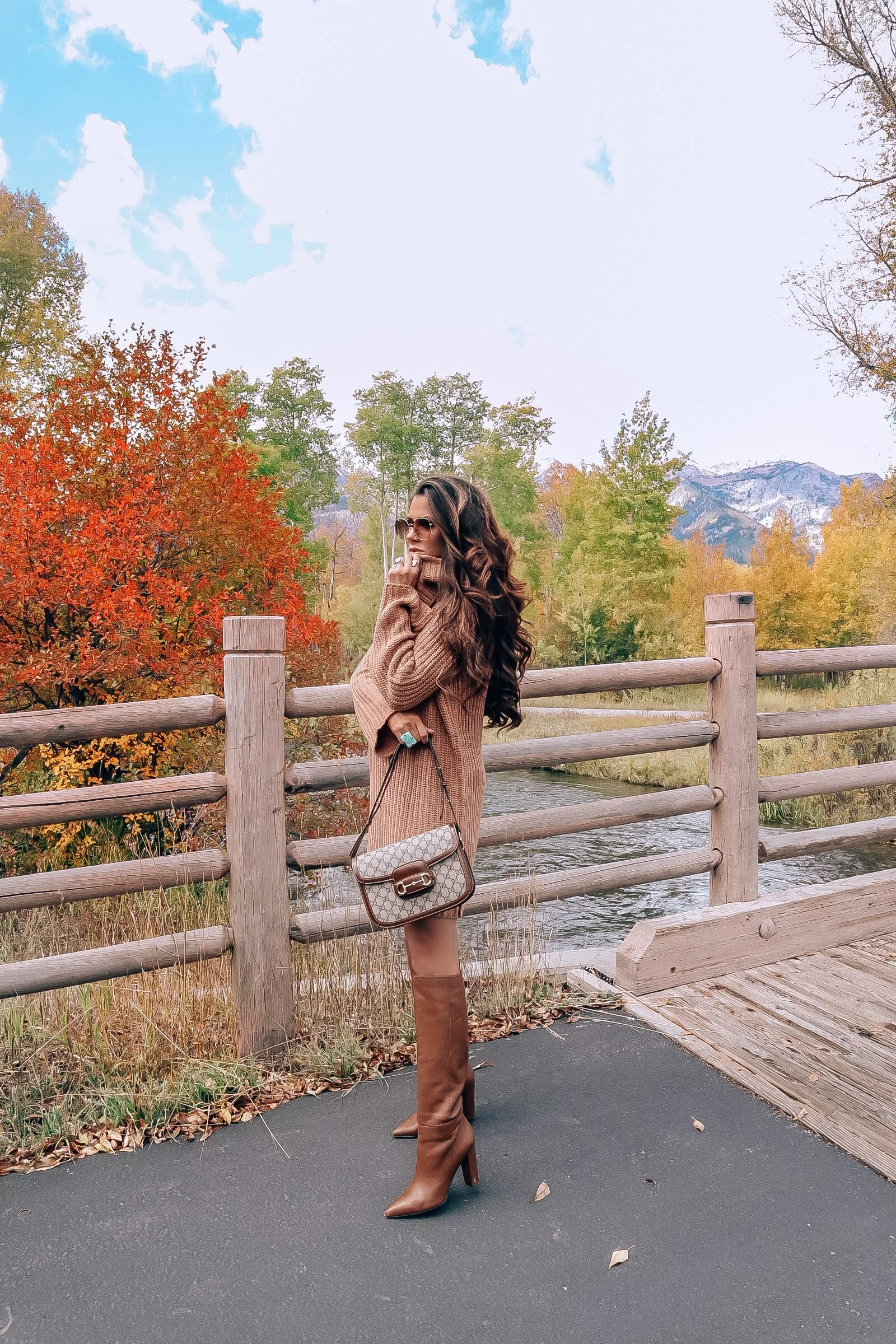 The Best Things to Do in Jackson Hole in the Fall featured by top US travel blog, The Sweetest Thing | fall fashion pinterest 2019, sweater dress outfits fall 2019, jackson hole, sam edelman Raakal, emily gemma