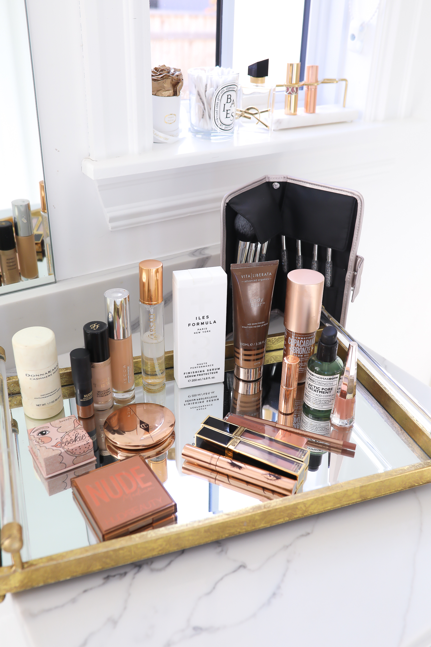 Sephora Holiday Beauty Event favorites featured by top US beauty blog, The Sweetest Thing | Sephora VIB Event november 2019, Sephora Must Haves, Beauty Blogger Sephora Haul, Sequin Wrap dress, SEquin dress 2019, emily ann gemma-2