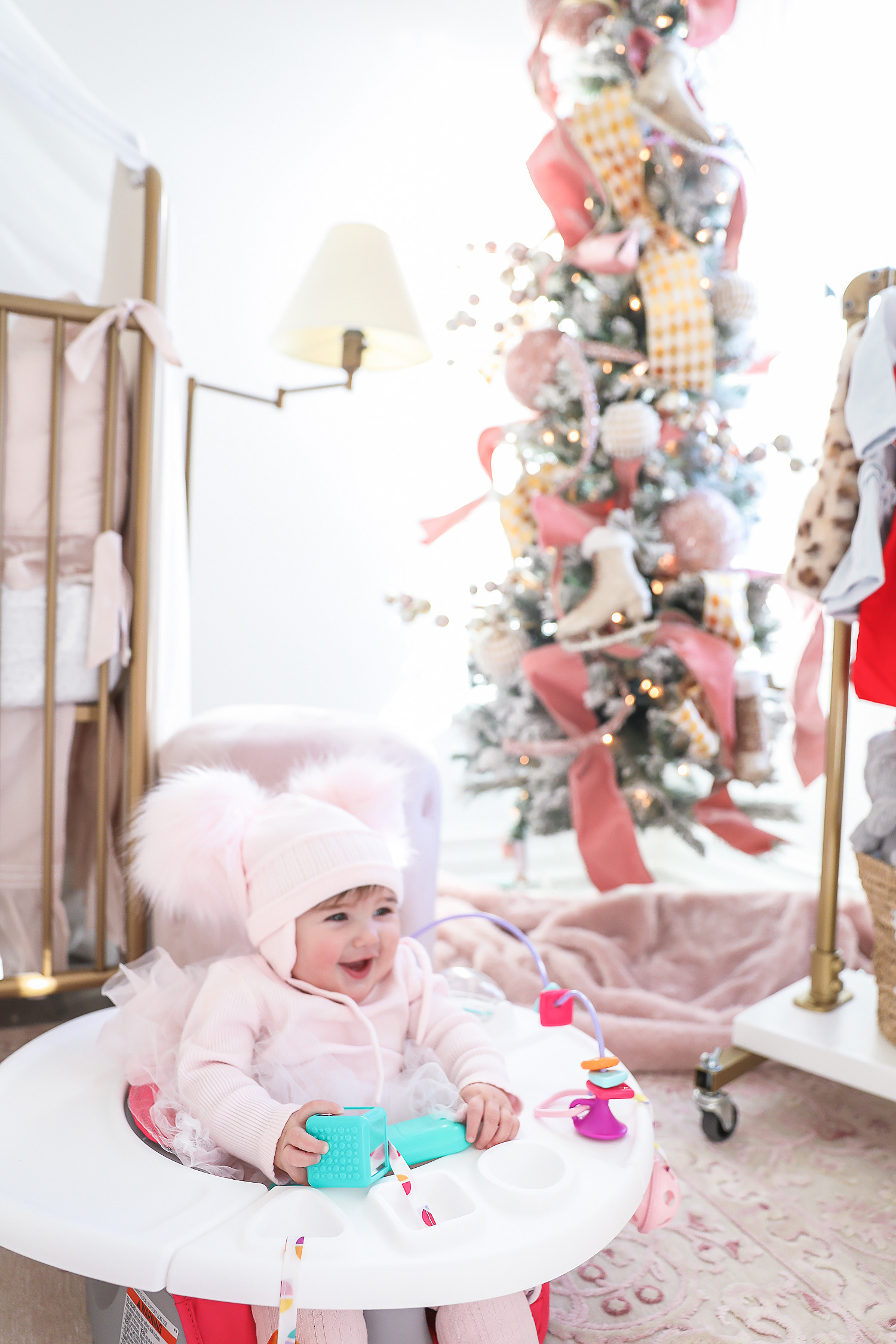 Affordable baby gifs featured by top US life and style blogger, Emily Gemma of The Sweetest Thing. shop hello holidays baby girl christmas tree 2019, emily ann gemma