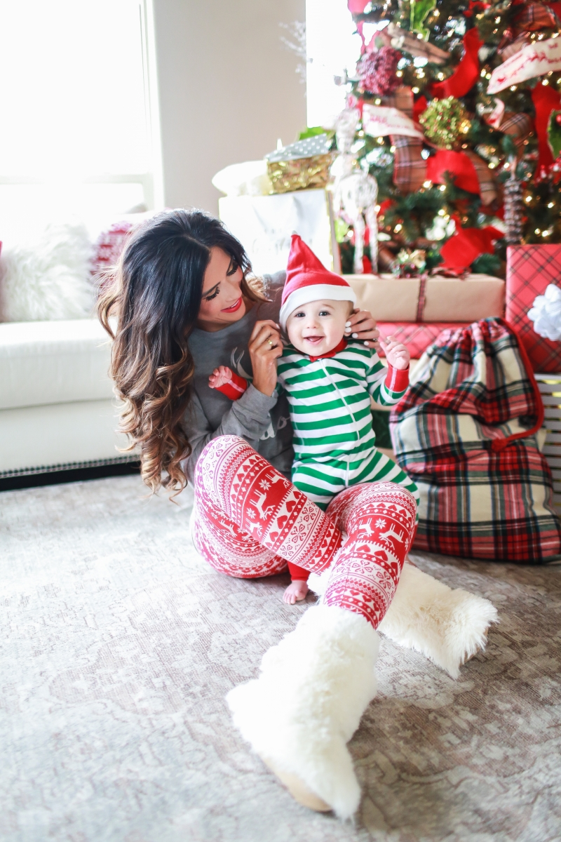 cute outfits thanksgiving dinner, best black friday deals 2019, emily ann gemma65 | Most Popular Outfits On Sale That I've Worn - All 50% Off! by popular Oklahoma fashion blog, The Sweetest Thing: image of a woman wearing fluffy slipper socks.