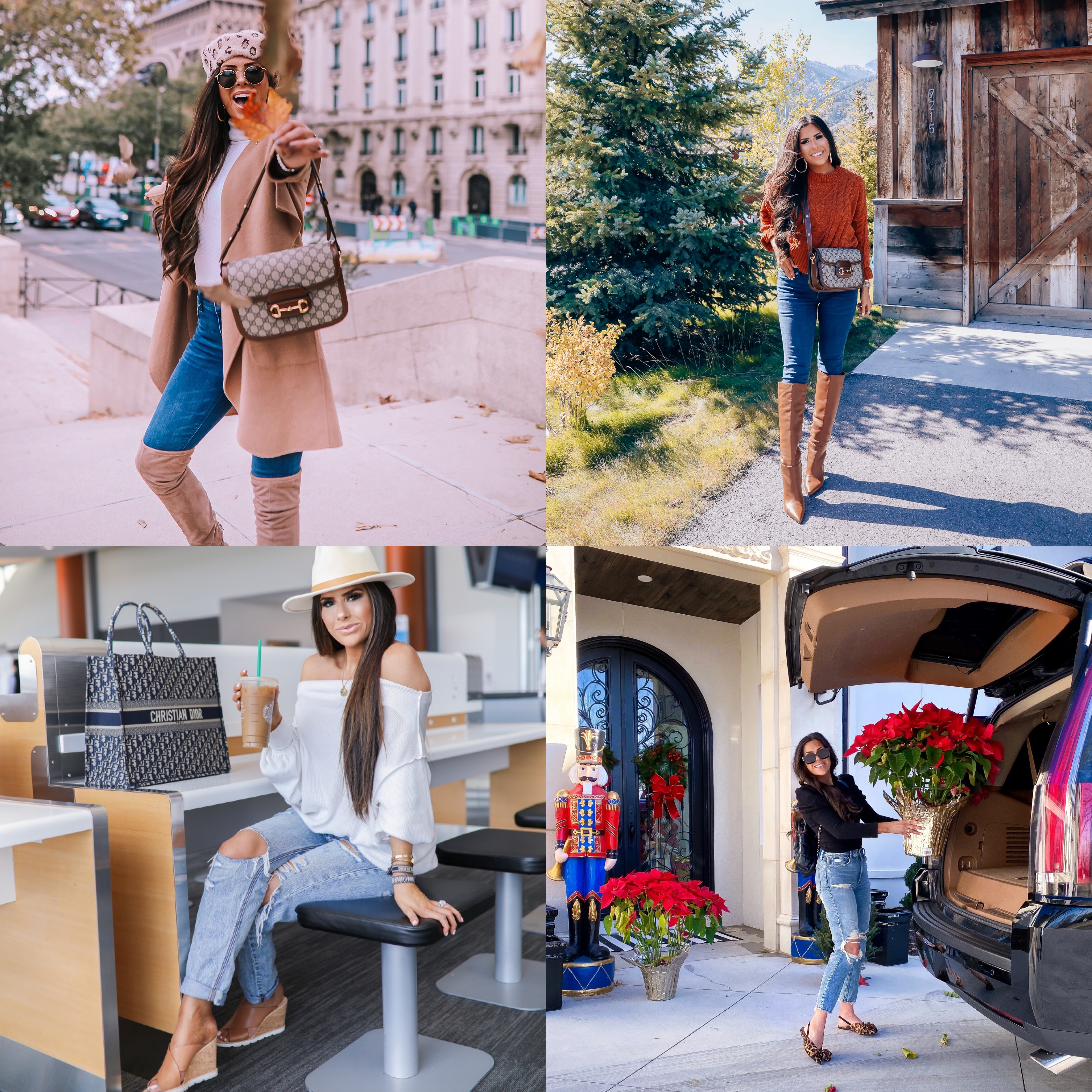 best denim of 2019, top affordable denim brands, emily | best athletic leggings lululemon, zella, spanx review | Best Wardrobe Essentials 2019👖 | Part 2 by popular US fashion blog, The Sweetest Thing: collage image of a woman wearing Express jeans and Abercrombie and Fitch High Rise Mom Jeans.