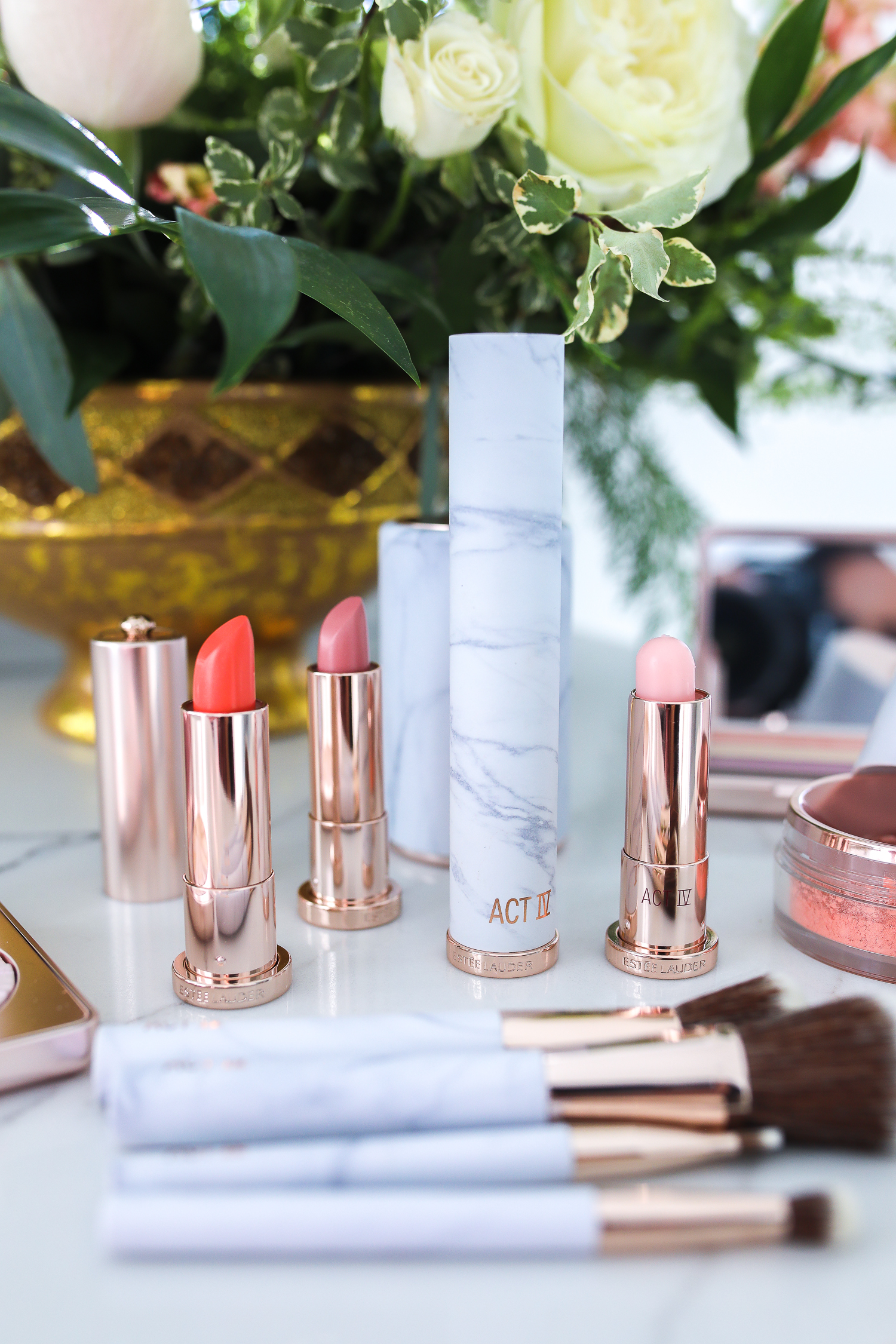 Estee Lauder Makeup by popular US beauty blog, The Sweetest Thing: image of Estee Lauder Act IV makeup products.