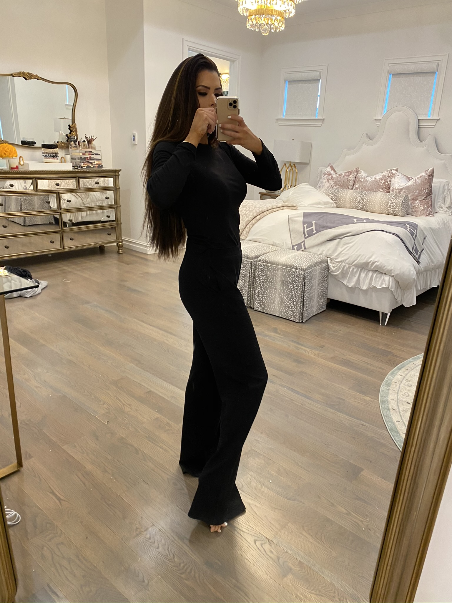 Instagram Recap by popular US fashion blog, The Sweetest Thing: image of a woman wearing a Verishop LETT Montreal Rib Top and a Verishop LETT Heathrow Wide Leg Pant.