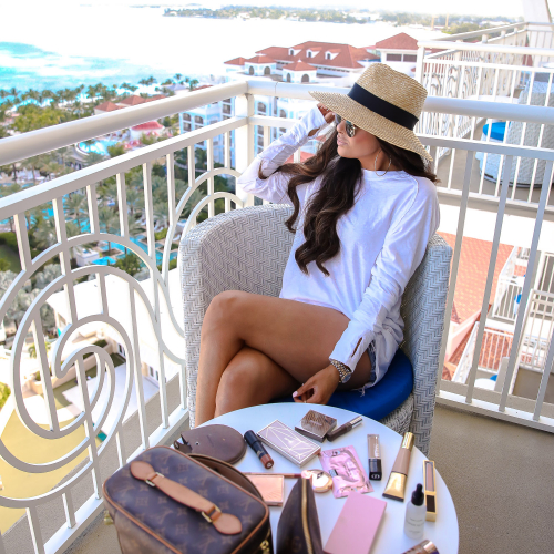 beach makeup must haves, beauty blogger beach vacation makeup, louis vuitton nice, bahamar review, emily ann gemma, tan luxe hyaluronic serum review-2