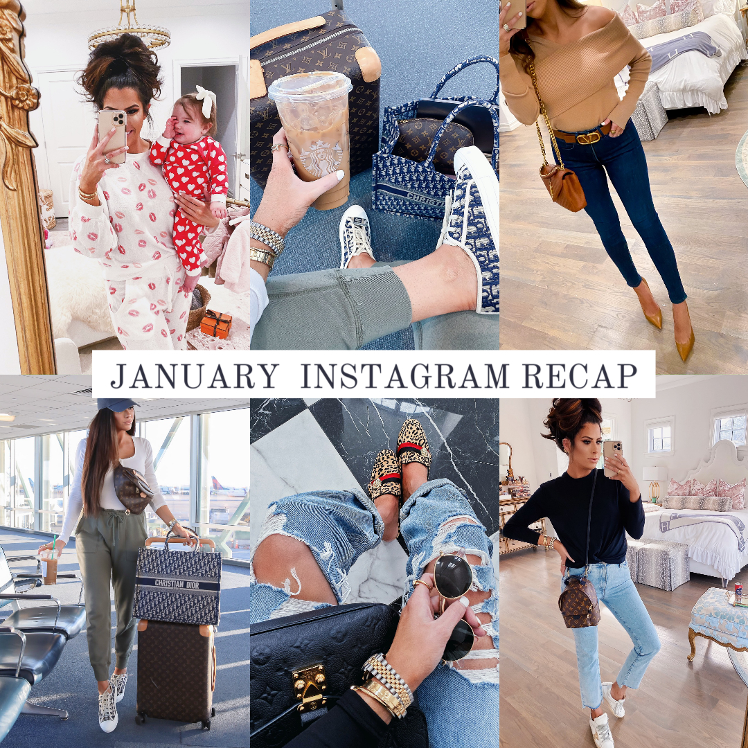 emily ann gemma instagram, popular fashion instagrammers, top fashion instagrammers, luxury fashion instagrammers | Instagram Recap by popular US fashion blog, The Sweetest Thing: collage image of a woman wearing various high end fashion items.