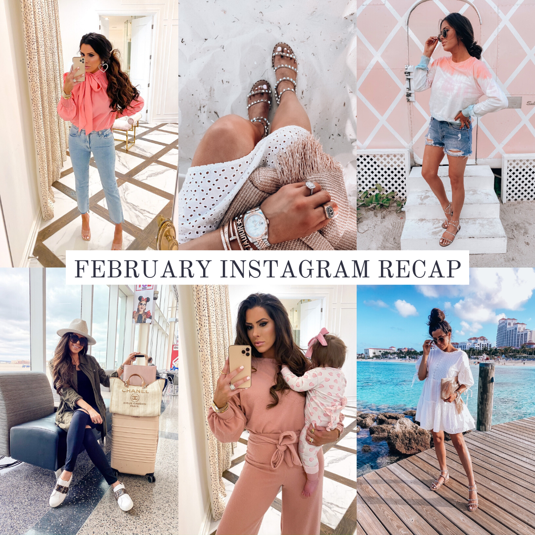 Instagram Fashion by popular US fashion blog, The Sweetest Thing: collage image of a woman wearing various outfits.