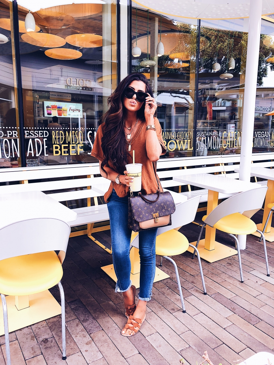 ShopBop Sale by popular US fashion blog, The Sweetest Thing: image of a woman wearing a ShopBop LE SPEC and ShopBop CITIZENS OF HUMANITY JEANS.