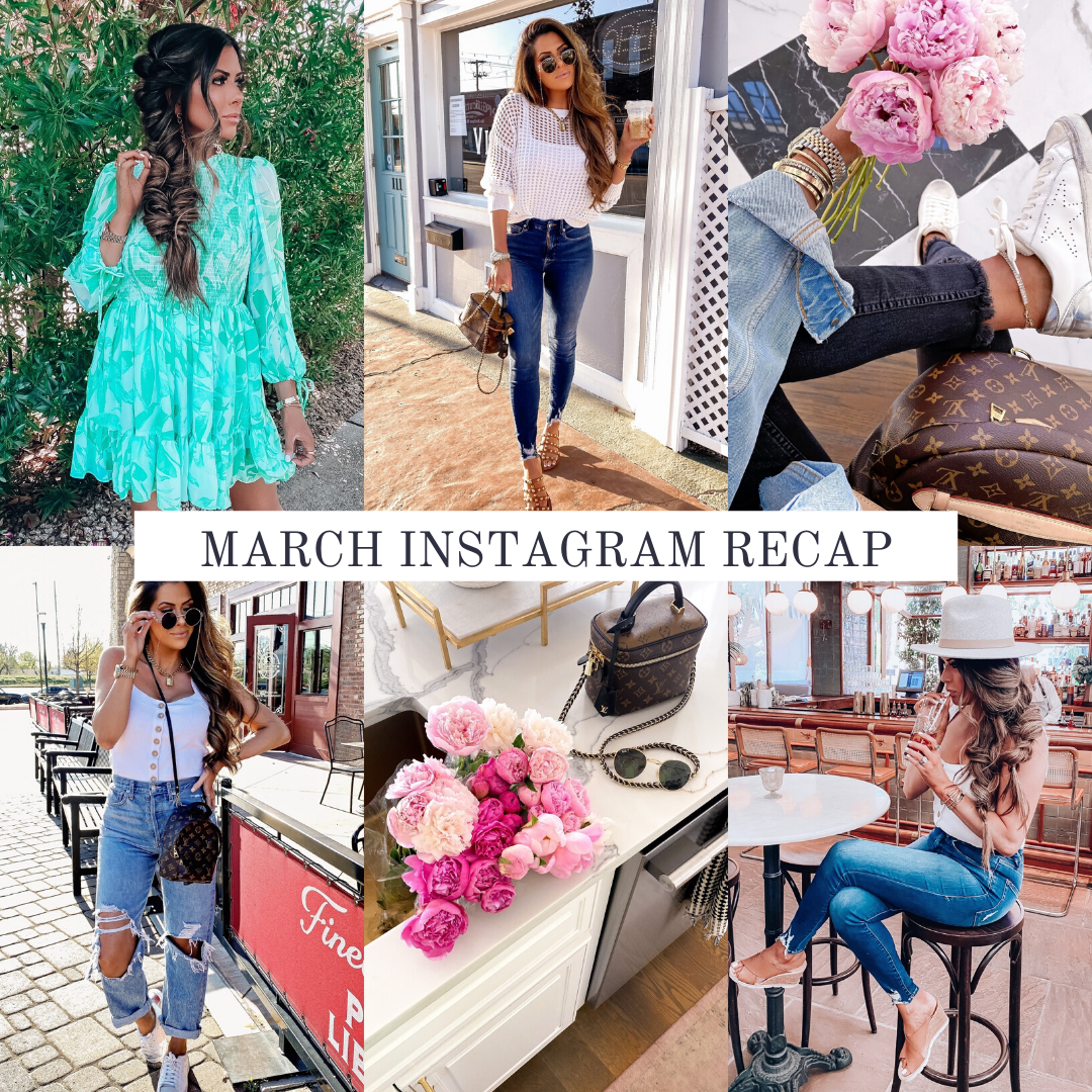 Instagram Recap by popular US lifestyle blog, The Sweetest Thing: collage image of various Emily Gemma Instagram pictures.
