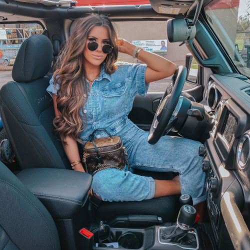 denim jumpsuit, free people denim jumpsuit coverall, emily ann gemma, spring fashion 2020, pinterest spring summer fashion 2020