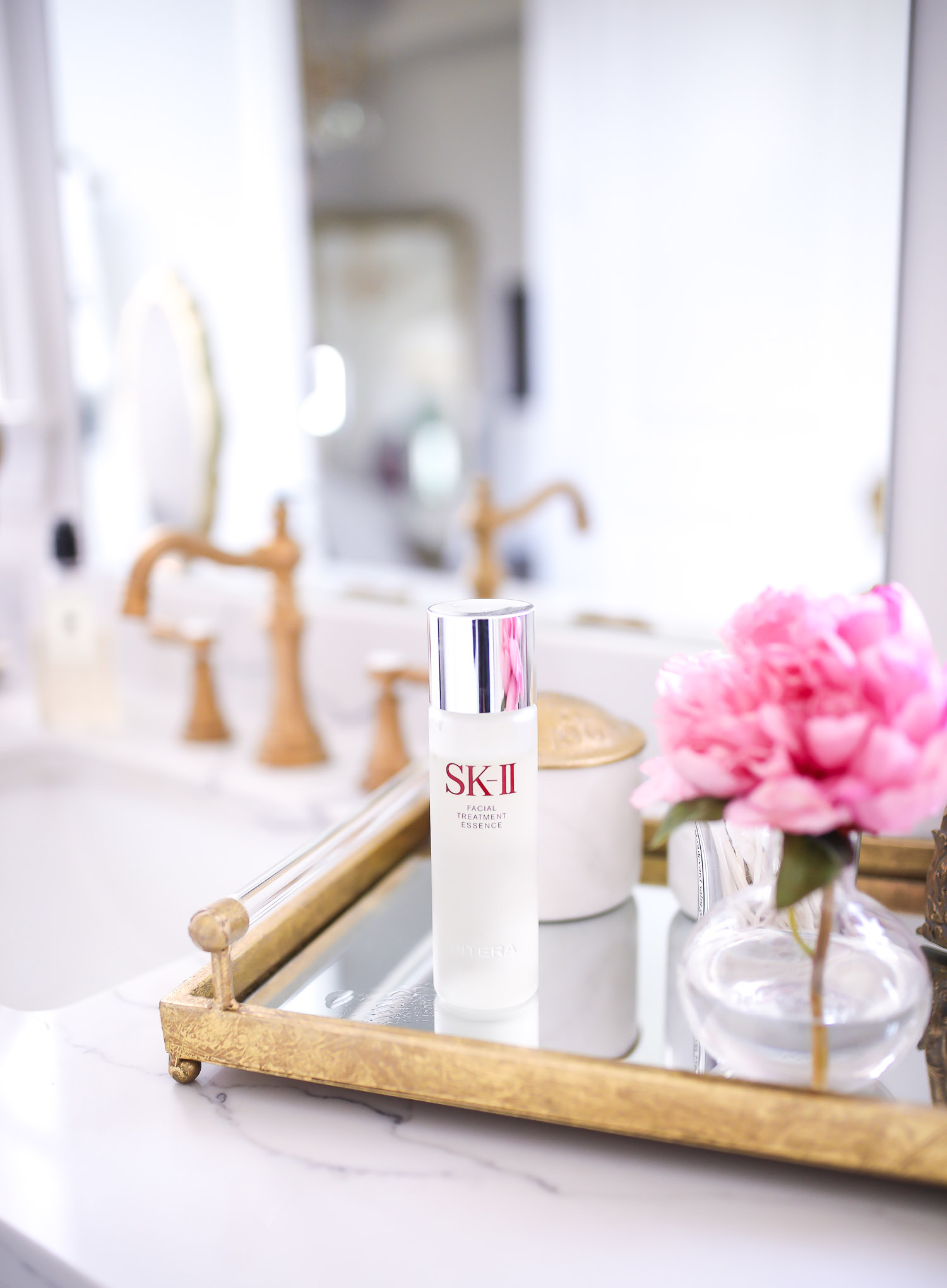 Sephora Spring VIB event april 2020, SKII pitera essence review, emily gemma skincare, beauty blogger | SK II Pitera Essence by popular US beauty blog, The Sweetest Thing: image of a bottle of SK II Pitera Essence.