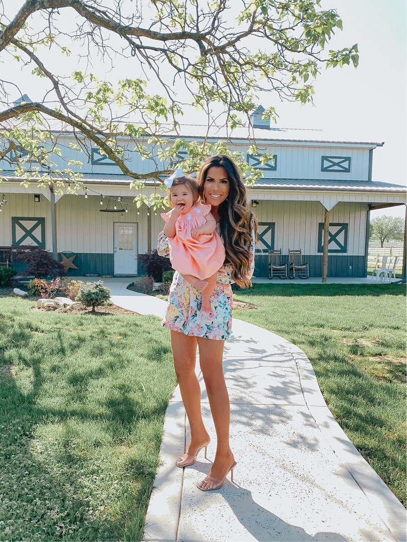 Net a porter sale June 2020, Emily Gemma | Net A Porter Sale by popular US fashion blog, The Sweetest Thing: image of Emily Gemma wearing a FAITHFULL THE BRAND Maribelle floral-print linen playsuit.